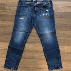 Skinny Jeans Size 18 Distressed